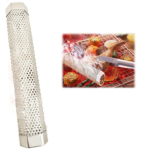 CIOGO 12'' Pellet Smoker Tube 5 Hours of Billowing Smoke Detachable and Easy, Safety and Tasty Smoking Cold or Hot Smoking Ideal for Smoking Cheese, Fish, Pork, Beef, Nuts (hexagon)