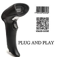 【Mise à niveau 2.0】Scanner Code à Barres Câblé MUNBYN Lecteur de Code-Barres avec Fil USB 1D 2D QR Code pour Magasin de Détail, Magasin de Vêtements, Supermarché et Petite Entreprise à Domicile