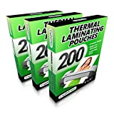 Office Products : 3 PACK - Thermal Laminating Pouches - (200 PACK - Get 2x More Sheets!) - Fits 8.5 x 11 Letter Size Paper - Universal Compatible with all Hot Laminator Machines - 3 Mil