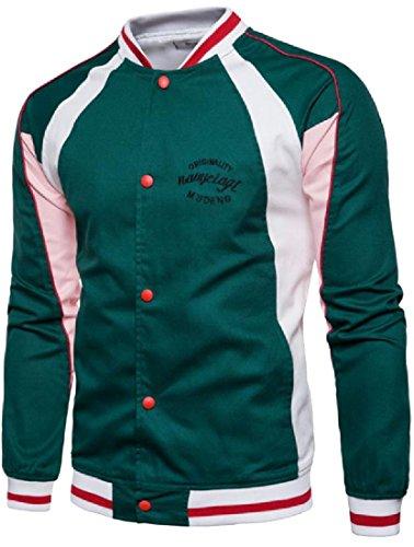 Snap Front Baseball Jacket - 8