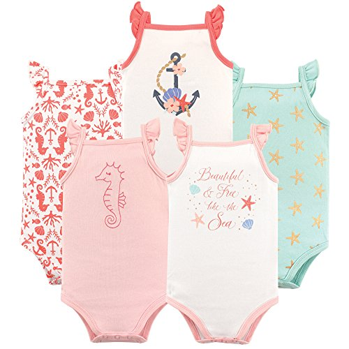Hudson Baby Baby Sleeveless Bodysuits, Beautiful sea 5-Pack 18-24 Months (24M) ()