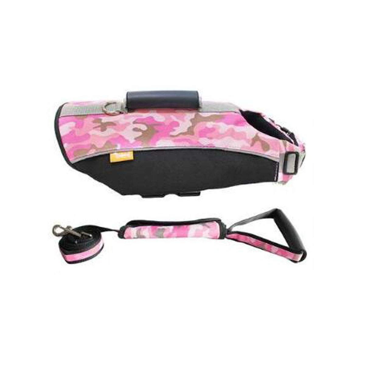 Aishanghuay Life Jacket, Dog's Comfortable and Safe Swimming Vest, Oxford Cloth Quality Material, Pink and Other Multi-Color Optional, Easy to Carry (Size: L, M, XL) Fashion