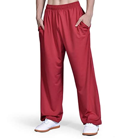 CHLXI Pantalones Kung Fu,Tai Chi PantalónPantalones de Yoga ...