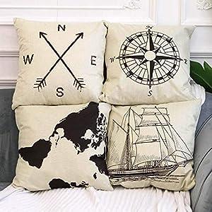 51zq%2BNwZHgL._SS300_ 100+ Nautical Pillows & Nautical Pillow Covers