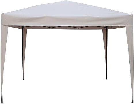 HESPERIDE Cenador Plegable para el jardín 3x3m de Color Arena - Hecho de Aluminio tratado con epoxi, Calidad Monta y se desmonta en Poco Minutos: Amazon.es: Hogar