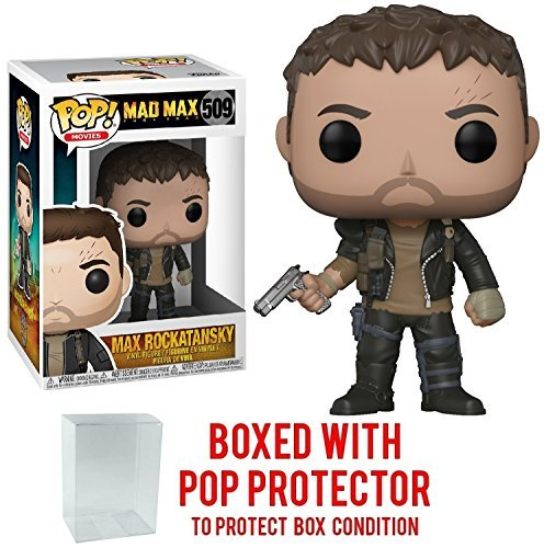 Funko Pop! Movies: Mad Max Fury Road - Max Rockatansky Vinyl Figure (Bundled with Pop BOX PROTECTOR CASE) (Figurine Mad Max)