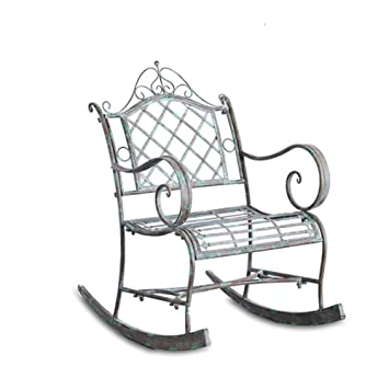 HENRYY Table et Chaise de Jardin Vintage en Fer secouant Une ...