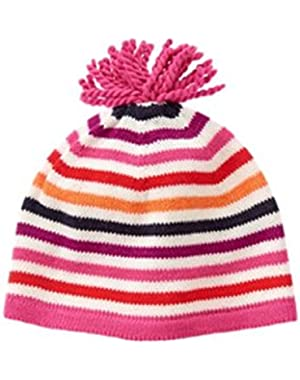 Infant Girl Striped Beanie (3-6 Months)