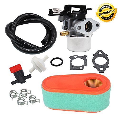 Carburetor Air Filter Pre Cleaner Fuel Valve for Briggs and Stratton 591137 590948 Husqvarna 775EX Lawn Mower Carb 795066 796254 TORO Timesaver by HUZTL