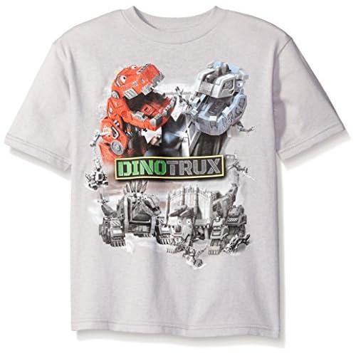 Dinotrux Little Boys' Short Sleeve T-Shirt Shirt, Silver, Small/4