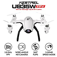 """UDI Mini Camera Drone with FPV - """"Kestrel"""" U835 Camera Live Video Drone WiFi with Altitude Hold and 4 Inch LCD Color Display Remote for Stunt Quadcopters from UDIRC"""