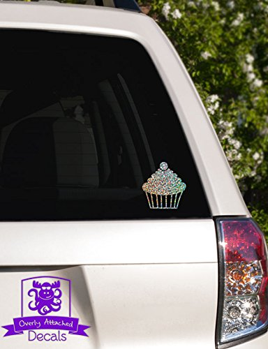 Overly Attached Decals Cherry Topped Cupcake Specialty Vinyl Car Decal - 6