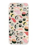 iPhone 6 Case, Ultra Slim Rubber Silicone TPU Back Cover for Apple - Sushi Pandemonium foodie iPhone 6