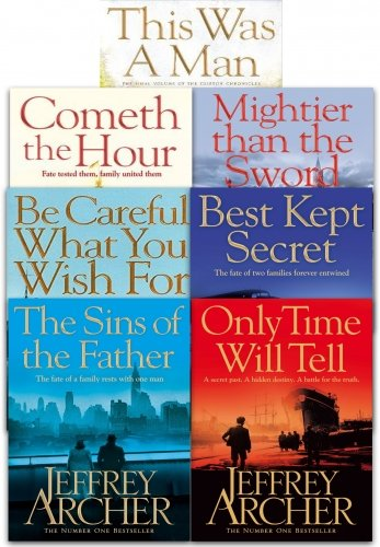 Jeffrey Archer The Clifton Chronicles Series 7 Books Collection Set (Jeffrey Archer Clifton Chronicles Mightier Than The Sword)