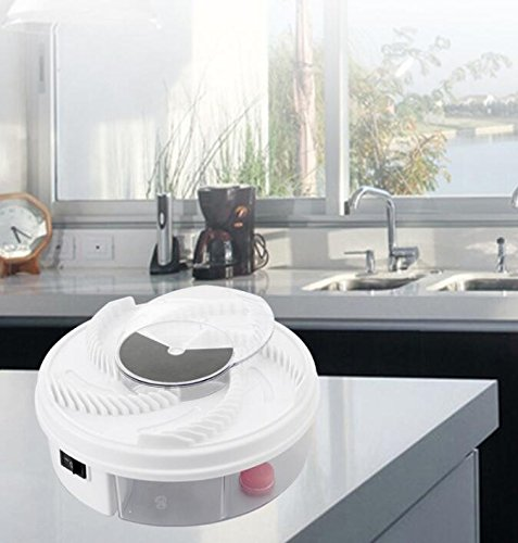 Hot sale 1 pcs Electric Fly Trap Device with Trapping Food - WHITE USB CABLE - coolthings.us