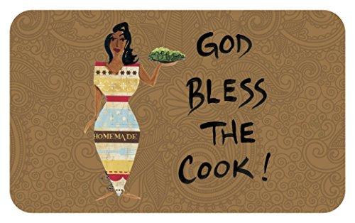 Shades of Color God Bless The Cook, Floor Mat (IFM108) ()