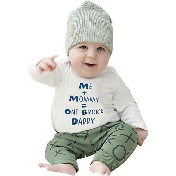 YanHoo Ropa para niños Albornoces de Carta de Manga Larga Masculinos y Femeninos Recién Nacido Infantil bebé niña Manga Larga Carta Mameluco Mono Ropa 1-5 ...