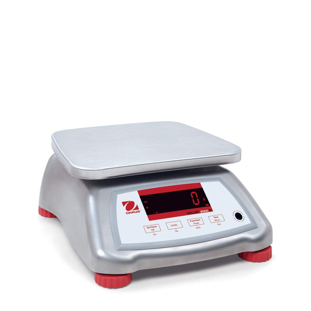 Ohaus V22XWE6T Valor 2000 Food Scale, Stainless Steel, 6 kg Capacity