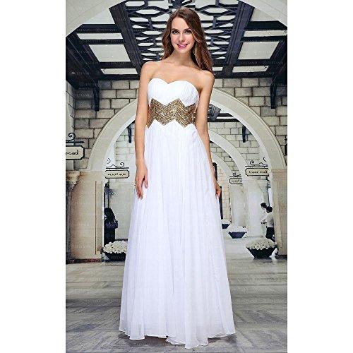 Kleid Design Weiß Ital Maxi Festamo Für Damen Ball wvgIdfqnI