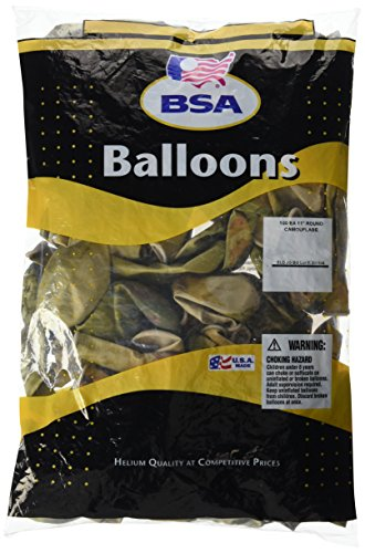 Pioneer Balloon 100 Count Camouflage Latex Balloons, 11
