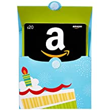Amazon.ca $20 Gift Card in a Birthday Pop-Up (Classic Black Card Design)