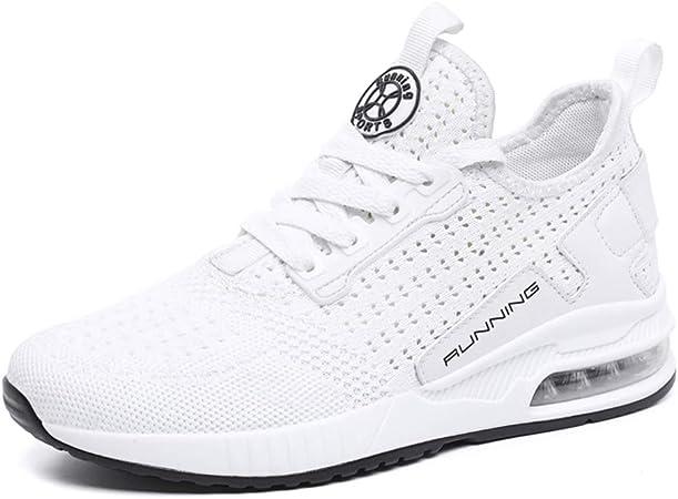 YSZDM Zapatillas para Correr en Carretera, Zapatillas de Deporte de Moda para Hombre Zapatillas de Deporte amortiguadoras de Aire Zapatillas para Correr para Correr en Tenis para Adultos,White,37: Amazon.es: Hogar