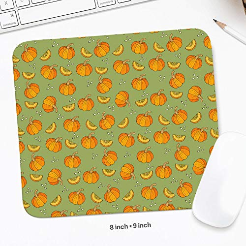 Cute Pumpkin Halloween Pictures Mouse Pad Natural Rubber Excellent Cloth Mousepad Stable No Slip Easy to Clean Office Home Computer Laptop Comfortable Rectangle Gaming 200X225 MM Mouse Mat ()