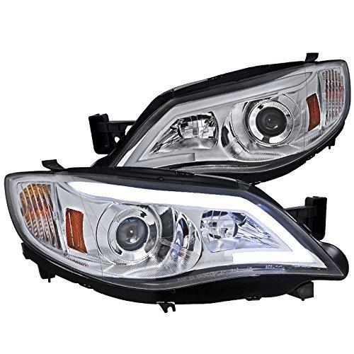 Spec-D Tuning 2LHP-WRX08-TM Subaru Impreza WRX Outback Sport LED DRL Projector Headlights Chrome ()