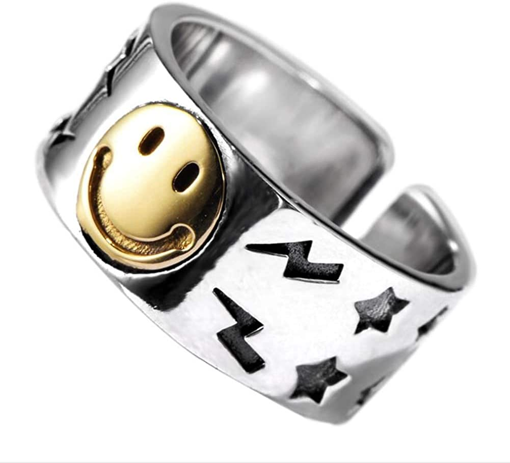 Adjustable Gift Boxed Picasso Face Gesicht 925 Sterling Silver Picasso Ring