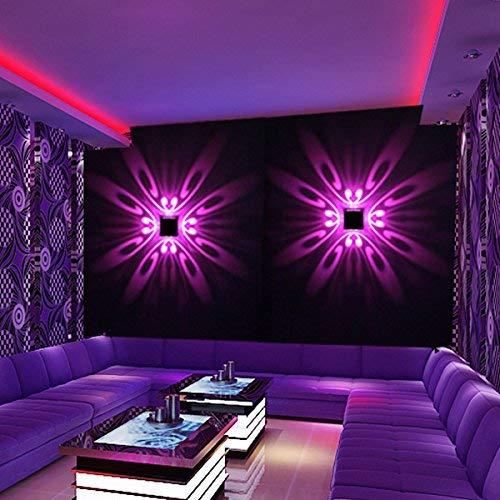 Eeayyygch Einfache kreative Wandleuchte LED Aluminium Wandleuchte Flur Flur Schlafzimmer Nachttisch KTV dekorative Lichter Hintergrund Lichteffekt Wandlampe Szene Lichter, grün (Farbe   -, Größe   -)