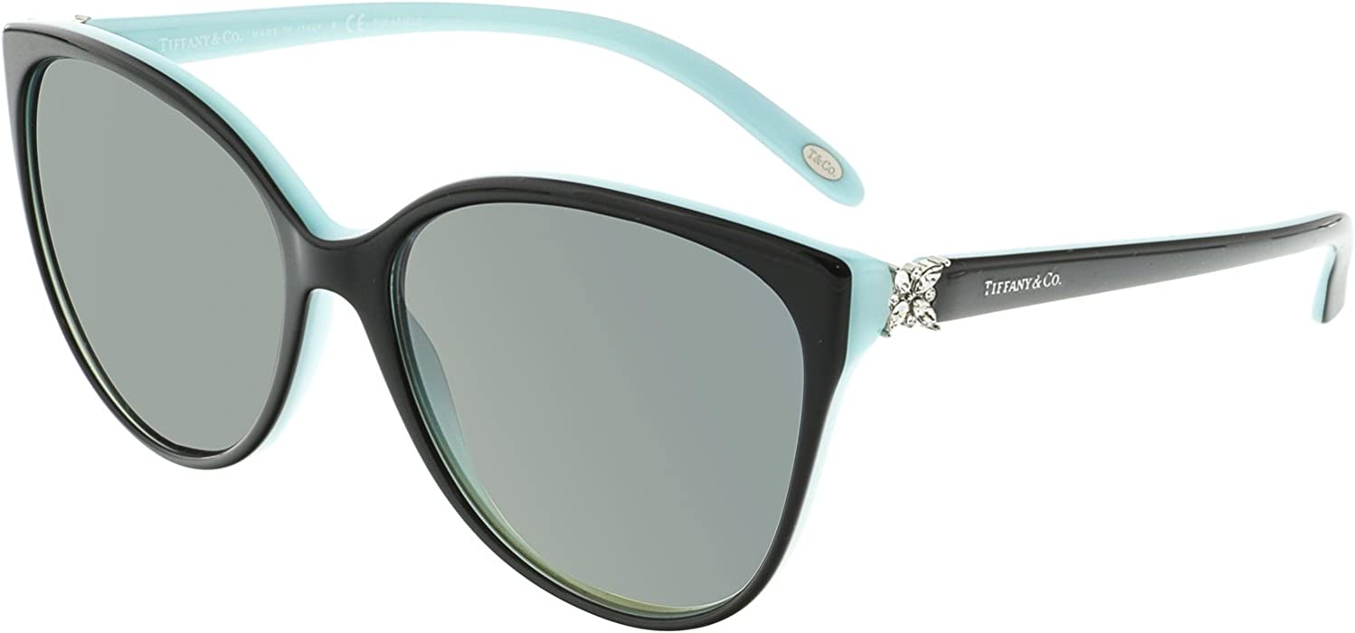 e7e359899b30 Tiffany And Co. Women s Polarized TF4089B-8055T3-58 Blue Butterfly  Sunglasses at Amazon Women s Clothing store