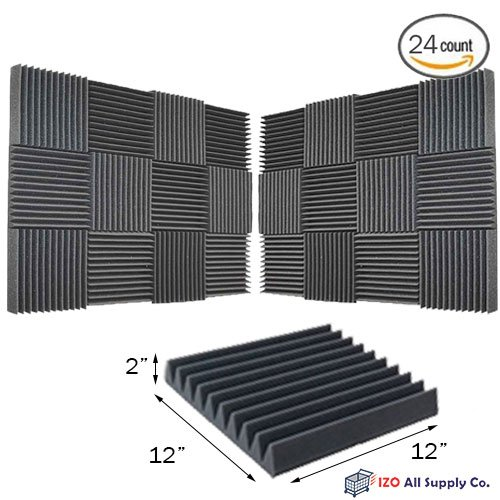 24-pk-2x12x12-soundproofing-foam-acoustic-tiles-studio-foam-sound-wedges