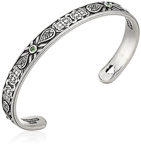 Alex and Ani Hand of Fatima Cuff Bangle Bracelet, Rafaelian Silver, Expandable