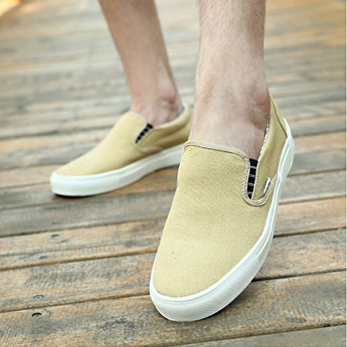 Lona Barco Pisos Zapatos De Hombres De En Bajos Los Deslizamiento Los Zapatos Amarillo De Casual fqRzwzOpEx