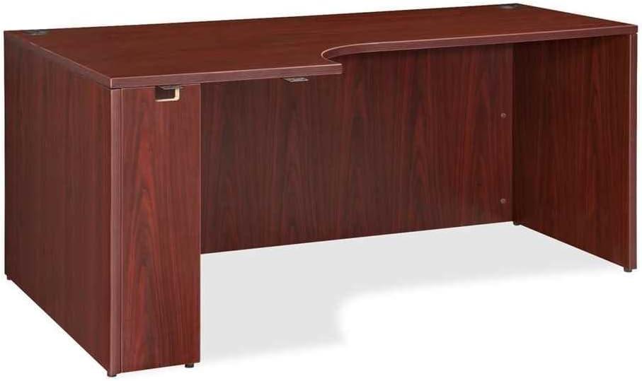 Lorell LLR69906 Pedestal Desk Shell Mahogany