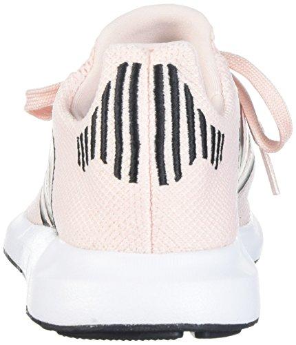 adidasSWIFT Run J - Swift Run J Niños, Unisex Ice Pink/Black/White