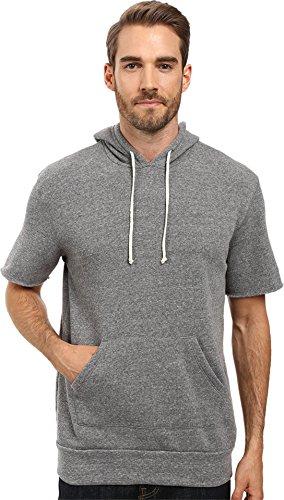 Men's Alternative Short Sleeve Hoodie, Size Medium - Grey