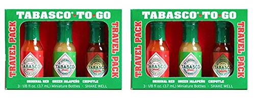 Tabasco Mini To Go Travel Hot Sauces (2 Pack) for sale  Delivered anywhere in USA
