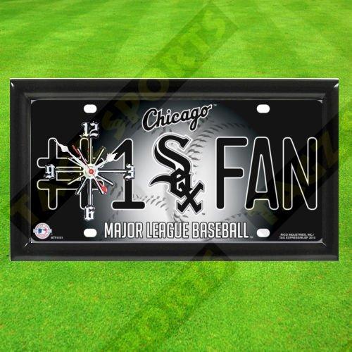 TAGZ Sports White SOX MLB Clock