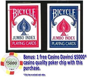 Bicycle Rider Back Poker juego de cartas - 72 cubiertas, 36 ...