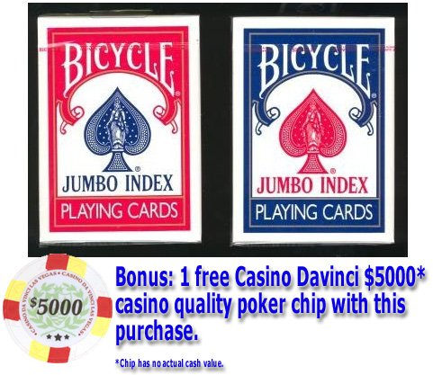 72 Decks of Bicycle Rider Back Poker Playing Cards - Choose from Regular or Jumbo index - Wholesale Priced