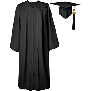 bb04131b754 GGS Unisex Matte Graduation Gown Cap Tassel Set for Bachelor High School  2019 Year Charm