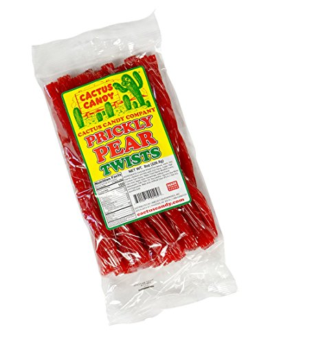 - Cactus Candy Prickly Pear Licorice Twists - 8oz bag - 24 twists per bag