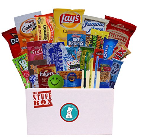 College Survival Pack (Student Exam Survival Kit - College Care Package Full of Over 30 Great Snacks and Handy Study Tools)