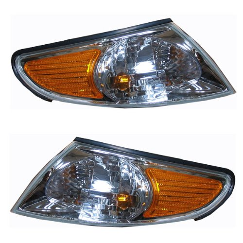 2002-2003 Toyota Solara Park Corner Light Turn Signal Marker Lamp Set Pair Right Passenger AND Left Driver Side (02 03)