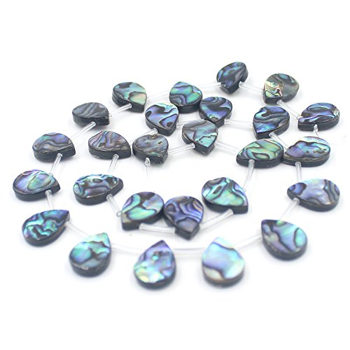 SR BGSJ Jewelry Making Natural Top Drilled Drip Abalone Shell Beads Spacer Craft Strand 15