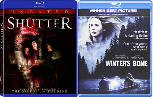 Winter's Bone + Shutter Unrated 2 Pack Drama Thriller Horror Movie Set