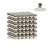 B-Qtech Toys Magnetic Ball, Magnetic Sculpture Toys 3 Dimensional Puzzle 222 Pieces Set 5 mm x 5 mm x 5 mm Magnet Ball for Intelligence Development and Stress Relief (5MM Set of 222 Balls)