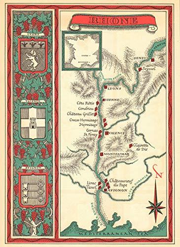 Amazon.com: Rhône Wine map. Carte vinicole - 1957 - Old map ... on gettysburg pennsylvania on us map, pennsylvania regions map, gettysburg manufacturing map, downtown gettysburg pa map, norhteast and southeast map, gettysburg trail map, winery map, gettysburg tourism map,