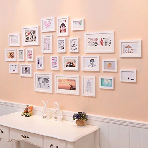 Solid Wood Photo Wall Creative Picture Frames Bedroom Photo Frame Wall Decoration Photo Wall by YZXK